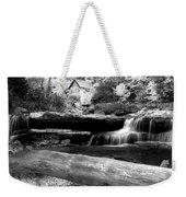 Waterfalls Mill Black N White Weekender Tote Bag
