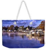 Waterfront Morning Weekender Tote Bag
