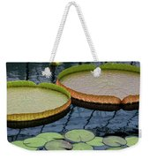 Waterlilies And Platters 2 Weekender Tote Bag by Byron Varvarigos