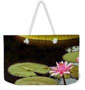 Waterlilies And Platters Vertical Romance Weekender Tote Bag
