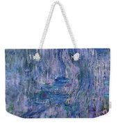 Waterlilies And Reflections Of A Willow Tree Weekender Tote Bag