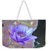 Waterlily And Bee Weekender Tote Bag