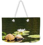 Waterlily And Coconuts Weekender Tote Bag