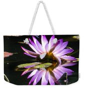 Waterlily And Dragonfly Weekender Tote Bag