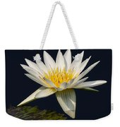 Waterlily And Pad Weekender Tote Bag by Susan Candelario