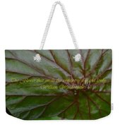 Waterlily Leaf Macro Weekender Tote Bag