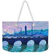 Waterloo Bridge Homage To Monet Weekender Tote Bag by Kevin Croitz