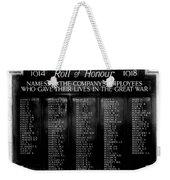 Waterloo Roll Of Honor 1914 1918 Weekender Tote Bag