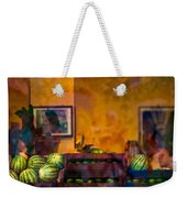 Watermelons On The Window Sill Weekender Tote Bag