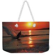Waterskiing At Sunset Weekender Tote Bag