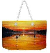Watery Sunset At Bala Lake Weekender Tote Bag