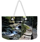Watkins Glen State Park Weekender Tote Bag by Frozen in Time Fine Art Photography