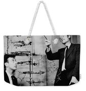Watson And Crick With Dna Model Weekender Tote Bag