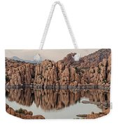 Watson Lake Tranquility Weekender Tote Bag by Angie Schutt