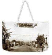 Watsonville California  The Apple City Circa 1926 Weekender Tote Bag