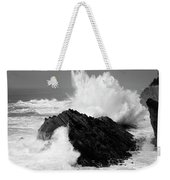 Wave At Shore Acres Bw Weekender Tote Bag