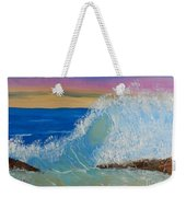 Wave At Sunrise Weekender Tote Bag