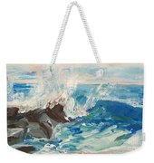 Wave At Sunset Beach Weekender Tote Bag