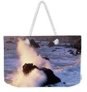 Wave Crashing On Sea Mount California Coast Weekender Tote Bag