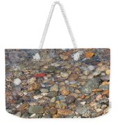 Wave Over Beautiful Rocks Weekender Tote Bag