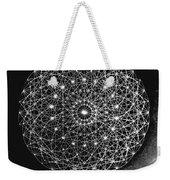 Wave Particle Duality Black White Weekender Tote Bag