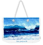 Wave Serenity Prayer Weekender Tote Bag