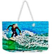 Wave Surfer Weekender Tote Bag
