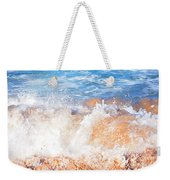 Wave Up Close Weekender Tote Bag