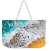Waves Abstract Weekender Tote Bag