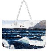 Waves And Tern Weekender Tote Bag