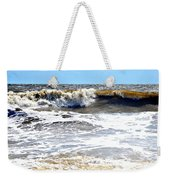 Waves At Tybee Weekender Tote Bag
