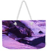 Waves  Breaking  On Jetties  Weekender Tote Bag