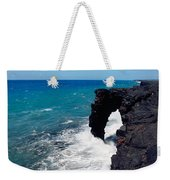 Waves Breaking On Rocks, Hawaii Weekender Tote Bag