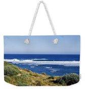 Waves Breaking On The Beach, Western Weekender Tote Bag