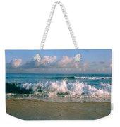 Waves Crashing On The Beach, Varadero Weekender Tote Bag