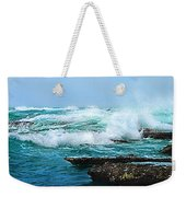 Waves Hitting Shore Weekender Tote Bag