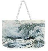 Waves In Stormy Ocean Weekender Tote Bag