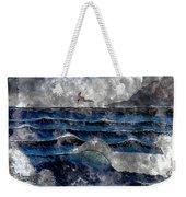 Waves - Ocean - Steel Engraving Weekender Tote Bag