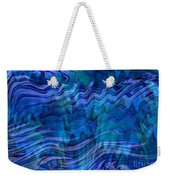 Waves Of Blue - Abstract Art Weekender Tote Bag