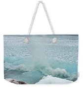 Waves Of Pancake Ice Crashing Ashore Weekender Tote Bag