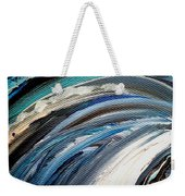 Textured Waves Of Blue Weekender Tote Bag