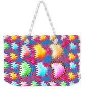 Waves Pattern Crystals Jewels Rose Flower Petals Weekender Tote Bag