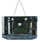 Waves Under The Clearwater Pier 60 Weekender Tote Bag