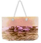 Waves With Sunset Weekender Tote Bag