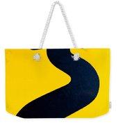 Wavy Arrow Concept Of Winding Road To Success Weekender Tote Bag