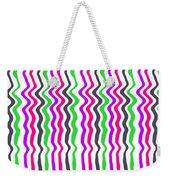 Wavy Stripe Weekender Tote Bag
