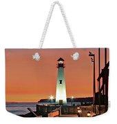 Wawatam Lighthouse Sunrise Weekender Tote Bag