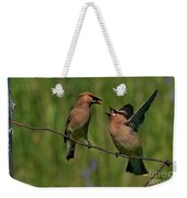 Waxwing Love.. Weekender Tote Bag by Nina Stavlund