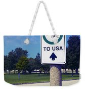 Way To The Usa Weekender Tote Bag