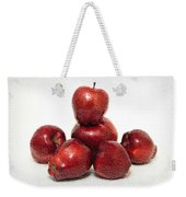 We Are Family - 6 Red Apples - Fresh Fruit - An Apple A Day - Orchard Weekender Tote Bag